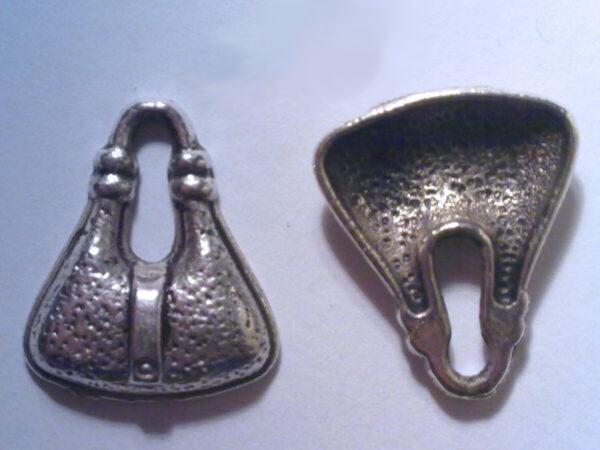 4 CHARMS BORSA in argento tibetano CHARM BORSETTE CIONDOLO PENDENTE BAG BIJOUX hobby creativi