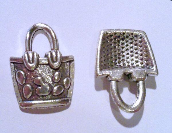 4 CHARMS CESTA in argento tibetano CHARM BORSETTE CESTO PENDENTE CIONDOLO SPORTA