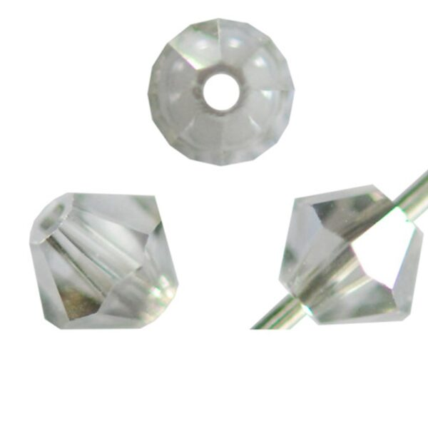 15 CRISTALLI SWAROVSKI BICONO 4 MM 5301 5328 250 S SHADOW CRYSTAL SATIN 1