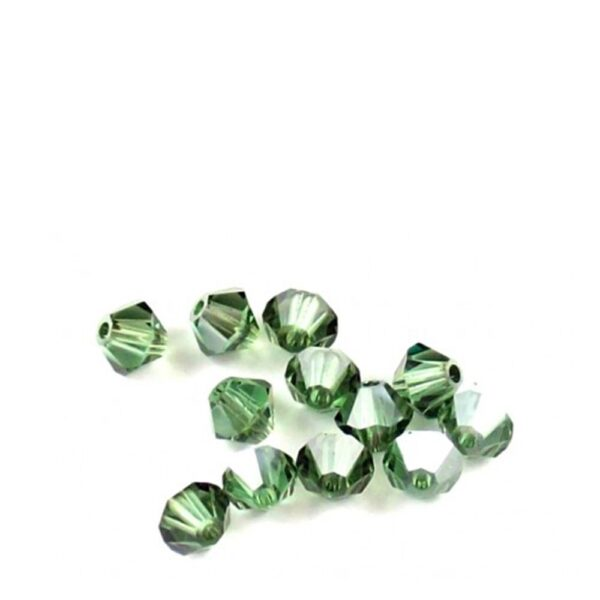 15 CRISTALLI ORIGINALI SWAROVSKI BICONO 4 MM 5301 5328 360 S ERINITE SATIN 2