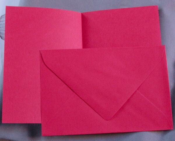 Set biglietto doppio busta CARTONCINI rossi B6 x INVITI PARTECIPAZIONI LETTERE