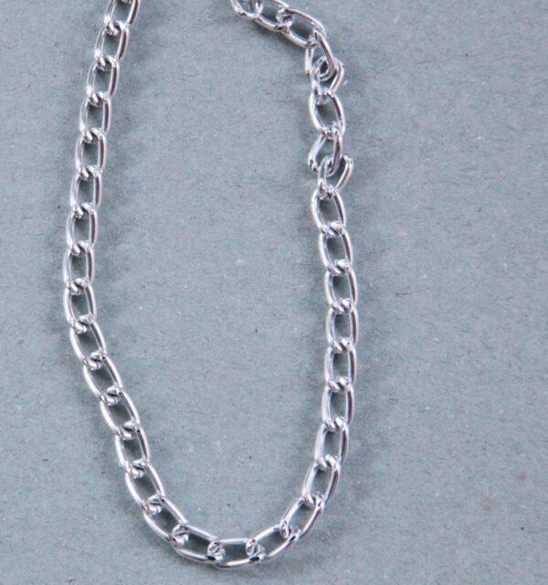 1 MT CATENA color argento catenina IN ALLUMINIO MAGLIE twist 5 X 8 MM ARGENTATA