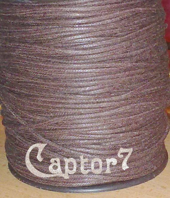 10 MT FILO COTONE CERATO MARRONE CORDONCINO 2 mm cordino CORDA RICAMBIO CIONDOLI
