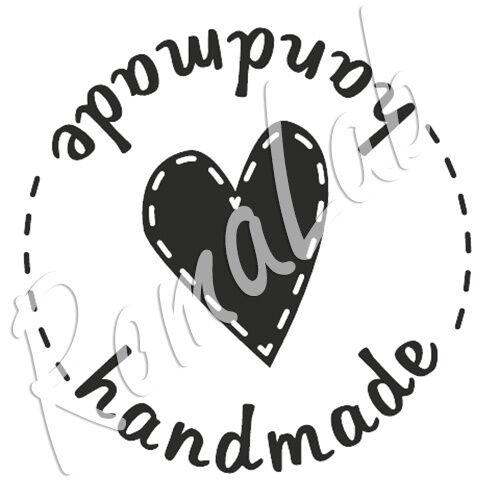 Timbro con impugnatura in legno cuore handmade stamp timbri scrapbooking