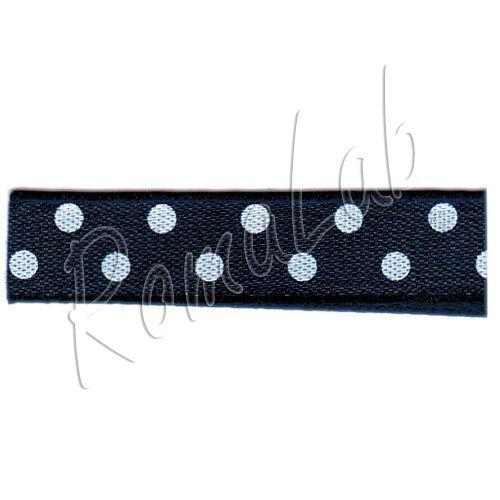 20 metri di nastrino di colore nero con pois bianchi alto circa 10 mm ribbon 292094216291