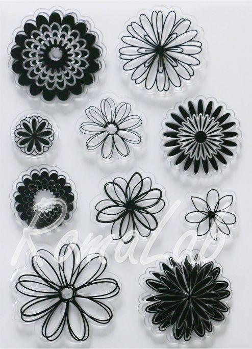 Clear stamp bordi floreali