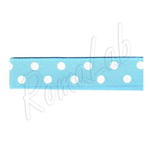 20 metri di nastrino di colore azzurro con pois bianchi alto circa 10 mm ribb 292112052342