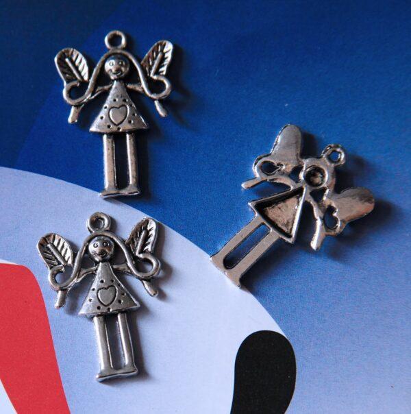 8 CHARMS FATINE argento tibetano CHARM BAMBINA CIONDOLO PENDENTE FATINA ELFA