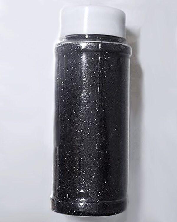 RomaLab Flacone Maxi da 95 Grammi di Glitter Nero Brillantini Confezione Risparmio
