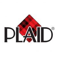 Plaid logo mod podge