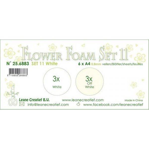 LeCrea Flower Foam Set 11   Weiss Farben1 256883