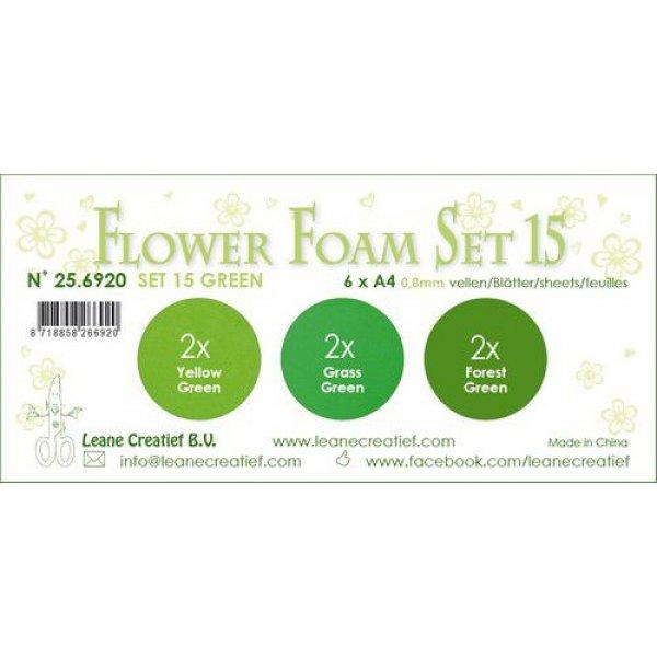LeCrea Flower Foam Set 15   Gruen Farben1 256920