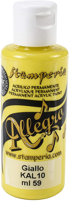 acrilico colore giallo Stamperia