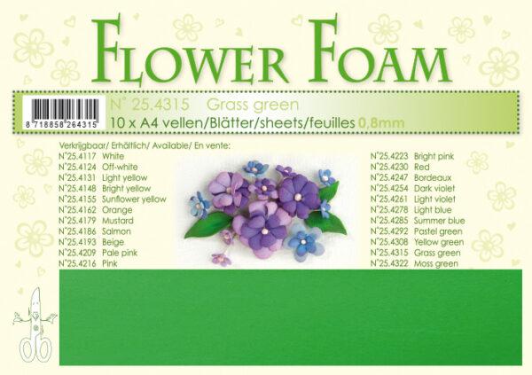 leane creatief flower foam sheets a4 grass green 254315