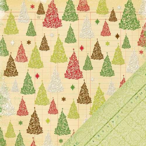 1 FOGLIO DI CARTA Glitter Trees Twinkle CARTONAGGIO SCRAPBOOKING 30 cm ALBERI 302002287840
