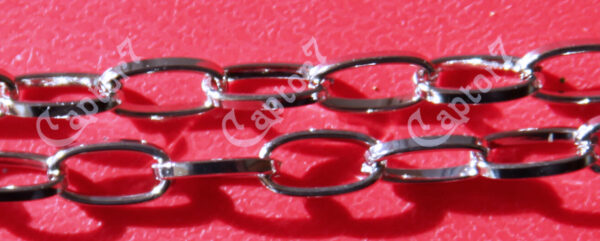 1 MT Catena color argento catenina MAGLIE LUNGHE 9x4 MM 291808428810