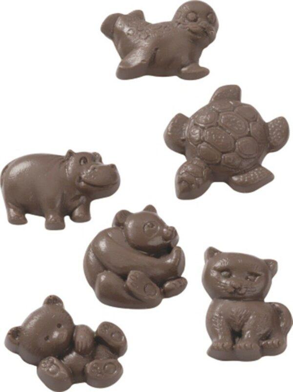 1 STAMPO CON 6 FORME orso tartaruga micio panda animali FORMINE per cioccolato 301965817350