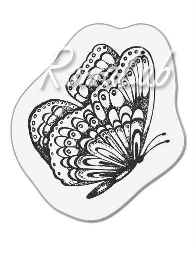 1 TIMBRO ACRILICO TRASPARENTE piccolo farfalla primavera SCRAPBOOKING STAMP 291795488980