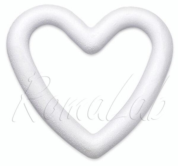 1 ghirlanda a cuore 18 cm in polistirolo da decorare patchwork decoupage corona 291801079790