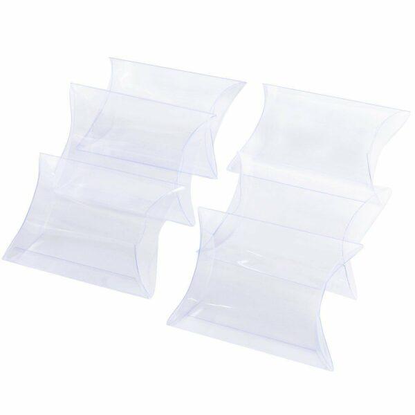 10 ASTUCCI in plastica PVC TRASPARENTI bomboniere PORTACONFETTI 50 x 44 x 20 mm 292915546690