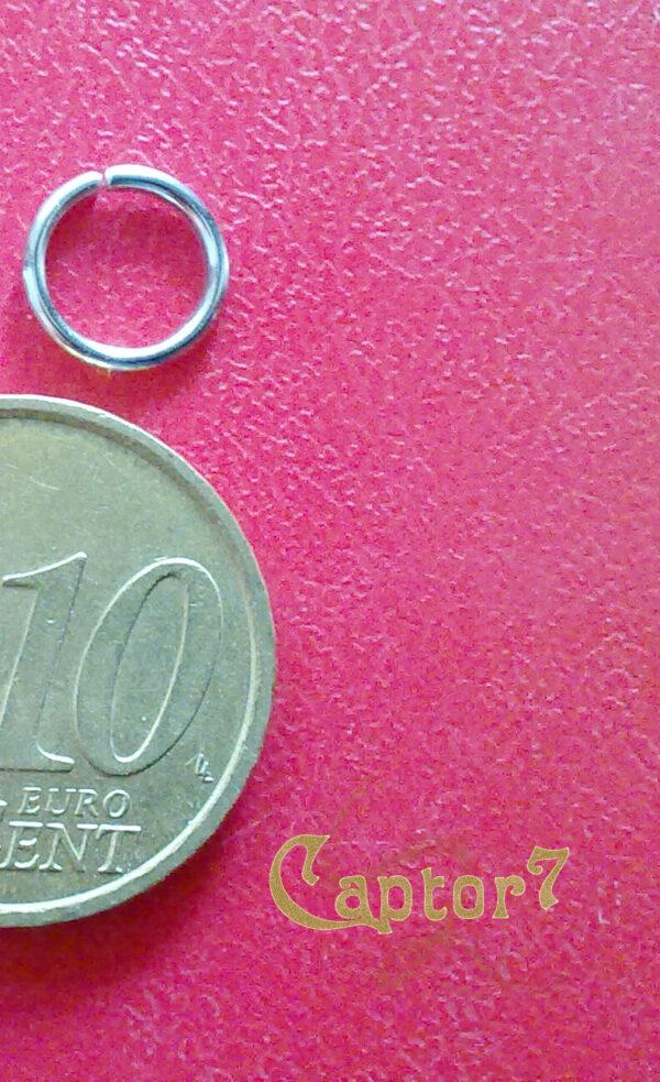 100 ANELLINI COLOR ARGENTO SCURO 8 mm anellino APRIBILI PER CIONDOLI PENDENTI 291808445310