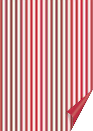 20 FOGLI in cartoncino A4 stampato a righe rosse e bianche x SCRAPBOOKING 292294544780