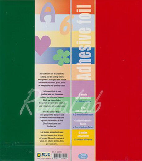 3 FOGLI di carta adesiva rosso 3 verde per SCRAPBOOKING arte 291808381650