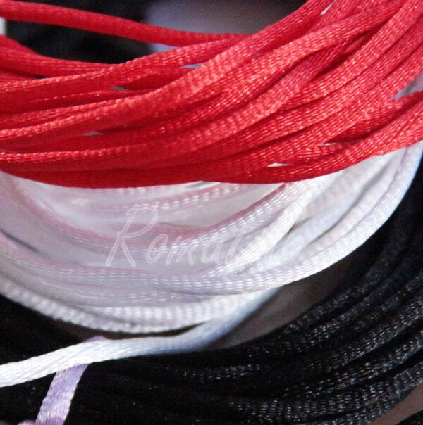 6 METRI FILO colori mix CODINO DI TOPO 2 mm CORDONCINO RICAMBIO per BIGIOTTERIA 301994727290