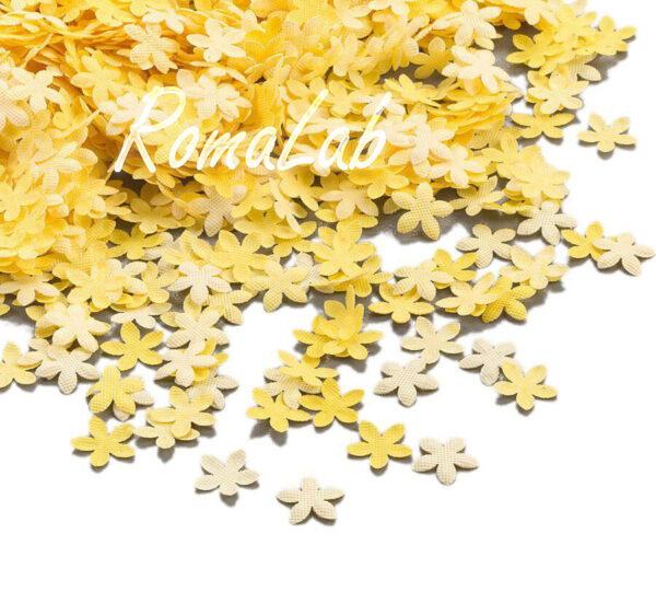8 9 grammi di fiorellini gialli in plastica da 08 cm FIORE SCRAPBOOKING 291811375810