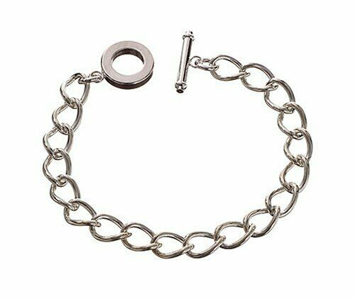 BASE PER BRACCIALE in metallo COLOR ARGENTO 20 CM Chain Link Bracelet catena 292989139470