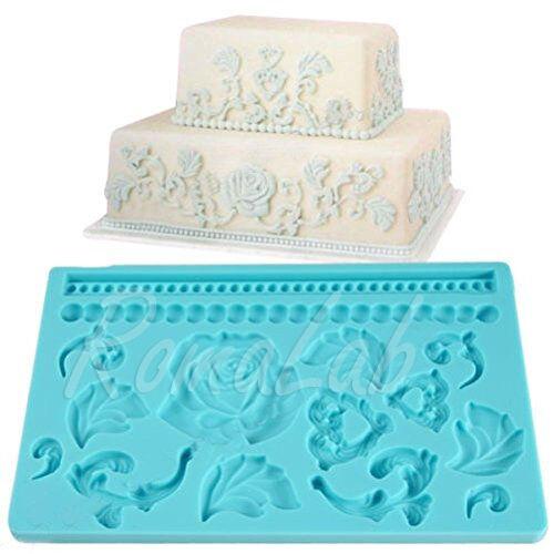 STAMPO IN SILICONE a tema barocco cuori FORMINE STAMPINO MOLD mould CAKE DESIGN 301994663290