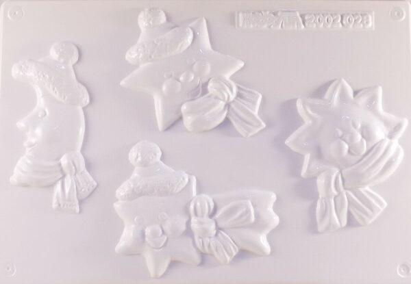 STAMPO con 4 FORMINE a forma di sole stelle e luna per colate gesso ceramico 302000191730