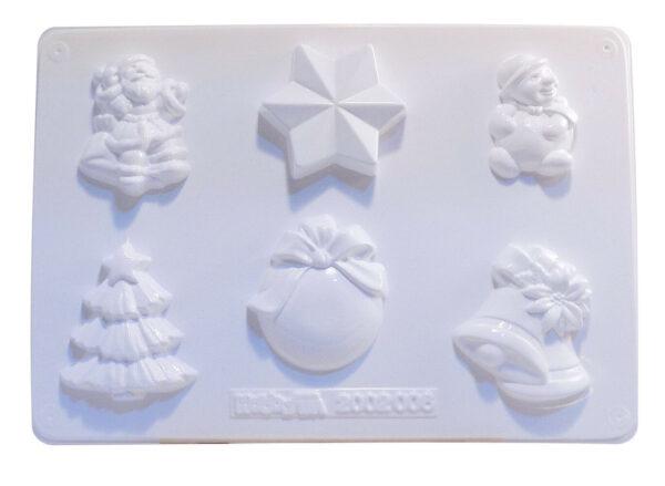 STAMPO con 6 FORMINE a tema Natale natalizio pupazzo di neve per gesso ceramico 291907805060