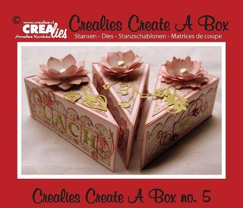 Set da 3 FUSTELLE Crealies Create a Box fetta di torta compatibili con Big Shot 303272384270