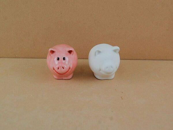 Statuina in ceramica biscotto bianco maiale da dipingere decorare pig maialin 303564384460