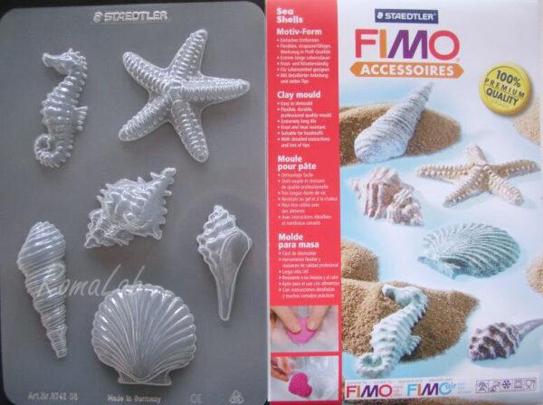 1 FOGLIO CON 6 STAMPI A TEMA marino PER FIMO CLAY spiaggia estate FORMINE mare 301994730921