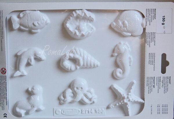 1 STAMPO 9 forme MARE ostrica con perla pesce stella marina cavalluccio FORMINE 291744642171