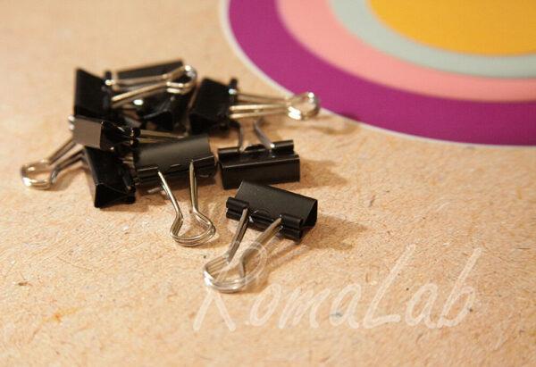 10 pinze fermacarta 19 mm PINZETTE clip in metallo A MOLLA Ferma carta DOCUMENTI 302813942591