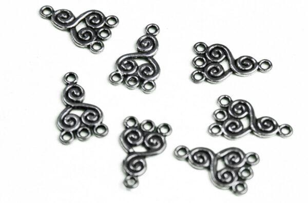 11 LINK 4 FORI in argento tibetano BASI PER ORECCHINI BRACCIALE LINKS CIONDO 293144433971