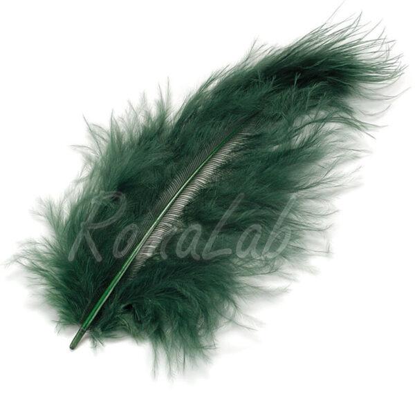 15 piume MARABU color verde scuro 10 cm stile etnico burlesque penne DECORAZIONI 301278079531