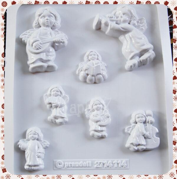 7 STAMPI ANGIOLETTI KNORR PRANDELL FORMINE MOLDS ANGELI CUSTODI NATALE ANGELS 291808109501