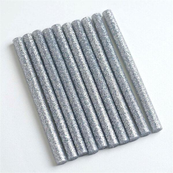 8 stick di colla per pistola a caldo diametro 7 mm hot glue argento glitter s 292310235891
