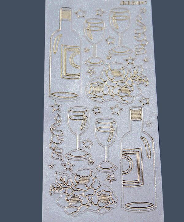 Adesivi stickers brindisi champagne bicchieri festa bianchi per SCRAPBOOKING 302002203411