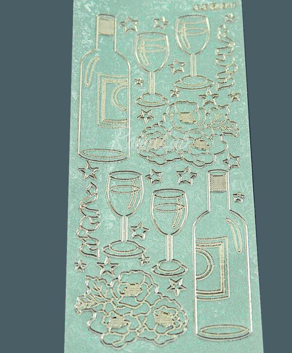 Adesivi stickers brindisi champagne bicchieri festa decorazioni per SCRAPBOOKING 291808381291