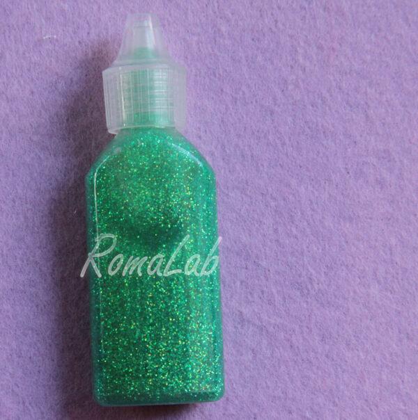 COLLA GLITTER GLITTER GLUE BRILLANTINI GLITTERATA colore verde chiaro arcobaleno 302003054061