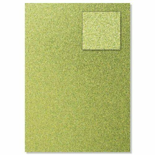 Foglio A4 di carta glitter colore verde lime CARD SCRAPBOOKING cartoncino gli 303165684751