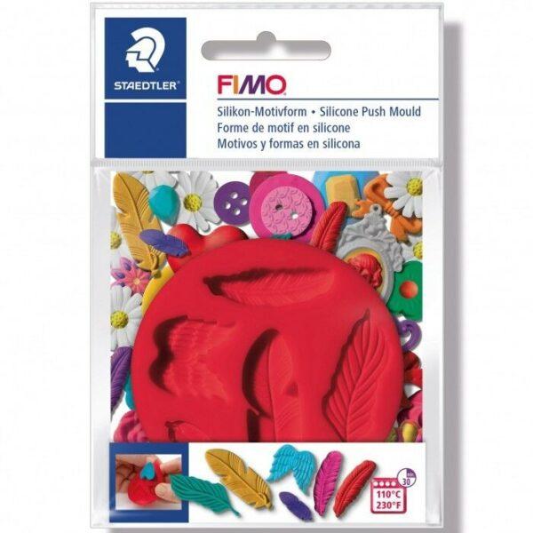 Piccolo stampo in silicone piume penne formina nastrini stampino Fimo Staedtler 292779456761