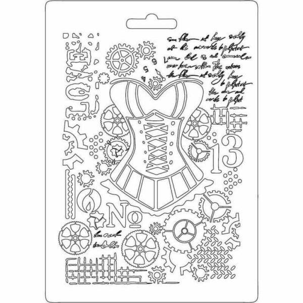 STAMPO A5 con motivo manichino con corsetto texture impression FORMINE Mould 293806942771