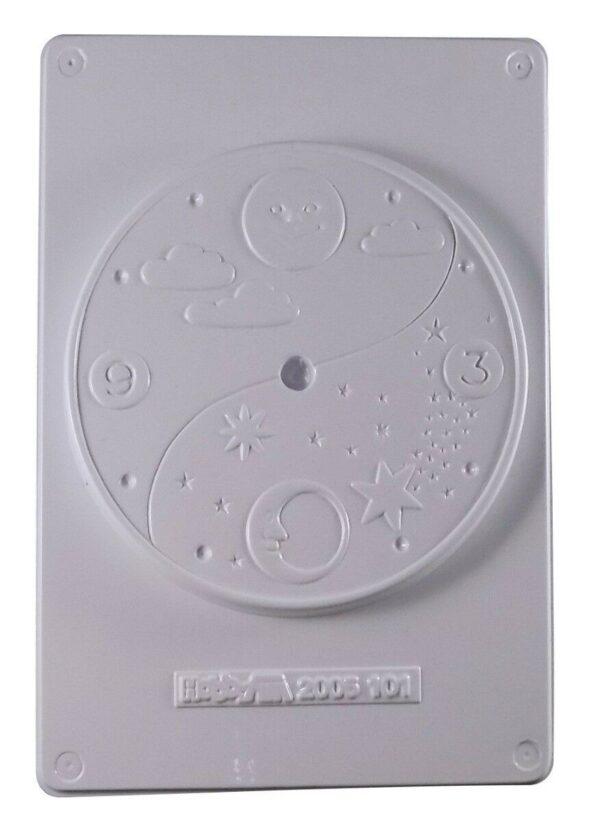 STAMPO con 1 orologio forma circolare decorata bomboniere MOLDS STAMPI x GESSO 291739679361