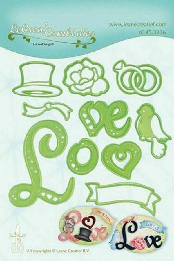 Set da 10 FUSTELLE amore scritta love die compatibili con Big Shot anelli cuo 303090851571